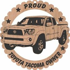 Toyota Tacoma Pickup Wood Ornament Large 5 3/4 Inches Round