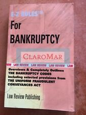 ☀️ E-Z Rules for Bankruptcy Law School Outline Paperback Book Debtor Creditor