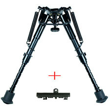 "Rifle Bipod 6"" to 9"" Harris Style Adjustable Spring Legs w/KeyMod Rail Adapter"