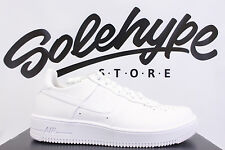 NIKE AIR FORCE 1 LOW ULTRA FORCE LEATHER TRIPLE WHITE 845052 100 SZ 13
