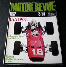 Motor Revue Heft 63, 3/67 26 Seiten Deutsche Autos 67, Aerodynamik der Rennwagen