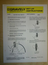 GRAVELY FUEL PUMP OPERATOR MANUAL SET-UP INSTRUCTION