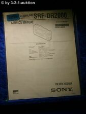 Sony Service Manual SRF DR2000 Data Receiver (#5256)