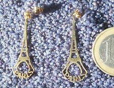 Ohrringe Eiffelturm Souvenir Paris Ohrring vergoldet Gold Tour Eiffel France