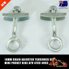 10mm Chain Tensioner Adjuster Pair BMX Track Fixie Pocket Motor Bike Old School