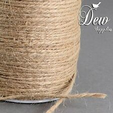One Roll 100m Hemp Rope String Cord Line Jute Craft Decorate Gift Wrapping 2mm