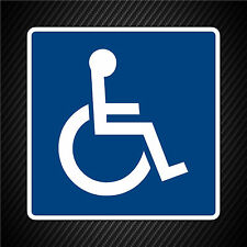 Handicap Wheelchair Decal Sticker Disabled Car Truck Van Store Business Sign
