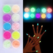 Manicure DIY Decoration Neon Color Glow In Dark Nail Powder Dust Fluorescent