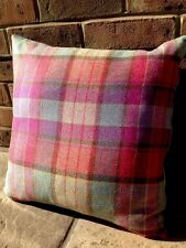1 2 Designers Guild Velvet Voyage Tweed Wool Cushion Cover Purple Teal Pink Mint