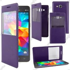 Housse Coque Etui S-View Flip Cover Violet Galaxy Grand Prime G530F G530FZ G530H