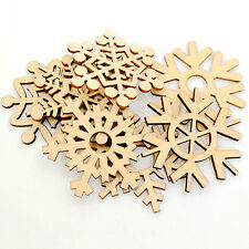 10 Pcs Assorted Wooden Snowflake Xmas Tree Hanging Ornament Decoration Engaging