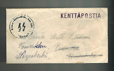 1941 Germany Oranienburg Concentration CAmp Waffen SS Feldpost Cover to Finland
