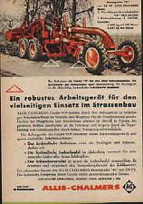 Werbung: Allis-Chalmers robustes Arbeitsgerät für den Strassenbau Motorgrader 45