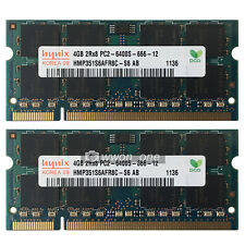 New Hynix 8GB 2x4GB PC2-6400 DDR2-800 800MHz DDR2 200pin Sodimm Laptop Memory