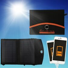 7W 2-Foldable USB Portable Solar Panel Battery Charger for Laptop PC Phone LE
