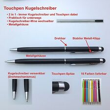 10 Stylus Touchpen pennino penna a Sfera Ball Pen Smartphone Tablet Iphone