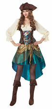 PIRATE PRINCESS DELUXE WOMEN DRESS PARTY FANCY DRESS COSTUME