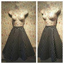 50's Style Lindy Bop Peggy Navy White Polka Dot Full Swing Skirt 14 Rockabilly
