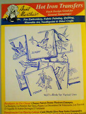 "Aunt Martha's Hot Iron Transfer # 9637 "" Birds for Varied Uses """