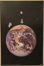 (PRL) 1988 IL PIANETA TERRA SPACE THE PLANET EARTH VINTAGE PRINT ART POSTER