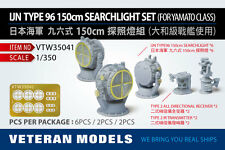 Veteran Models 1/350 WWII IJN Type 96 150cm Searchlight Set for Yamato Class