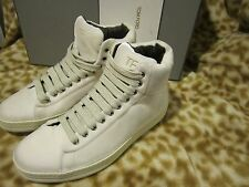 TOM FORD MENS LEATHER VELVET CREAM WHITE SNEAKER SHOES 6 T /US 7 D NEW $890!!