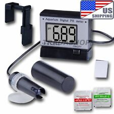 US Ship Digital pH Meter Tester Monitor 0.00-14.00 Hydroponics Aquarium ATC