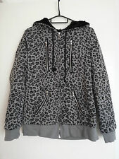 G.L.P Leopard Print Hoodie With Cat Ears On Hood Size Medium Kitten Kitty Animal