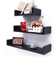 Floating U Nesting Wall Shelf Display Decor Mount Ledge Storage Black11/18 lbs