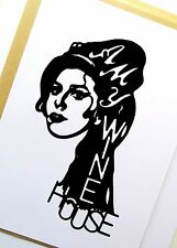 "AMY WINEHOUSE Original Pop Art, Music Celebritie 3½""X6½"" inches Portrait Sticker"