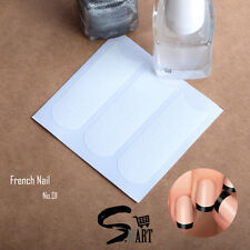 NAIL ART Nail Decals Sticker French Nail Tip Guides CLASSIC ROUND Super Easy A01