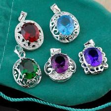 Hot 5pcs HQ 925 Silver Mixed Big CZ Pendants For Necklace