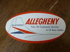 Vintage Luggage Label - Allegheny - Air Commuter Service - White/Red/Blue