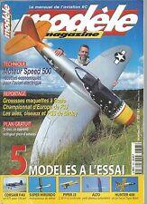MODELE MAG N°603 PLAN : TIGUS / MOTEUR SPEED 500 / CORSAIR F4U / SUPER HIRUNDO