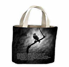 The Raven Edgar Allan Poe Tote Shopping Bag For Life - Goth Gothic