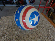 CLEAR CAPTAIN AMERICA STARS AND STRIPES BOWLING BALL- 15LB NEW IN BOX