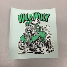 Collectible Vintage Rat Fink Ed Roth Wild Willy Water Slide Decal