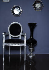French Louis Armchair Silver Black Shabby Chic Antique Style Bedroom Hall Frame