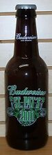BUDWEISER - 2001 - ST. PATRICK'S DAY - KING PITCHER - LARGE GLASS BOTTLE