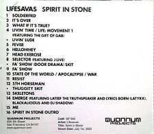 Lifesavas - Spirit in Stone (CD, 2003, Quannum Projects) Promo/Advance RARE/OOP