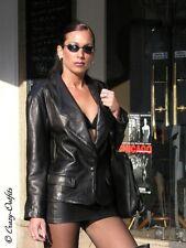 Lederrock Leder Rock Schwarz Mini Zipper Maßanfertigung