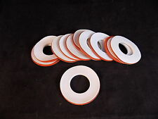 "RUBBER SEAL PTFE TEFLON LABORATORY GASKETS 2"" OD 1"" ID O RING GASKET Set of 11"
