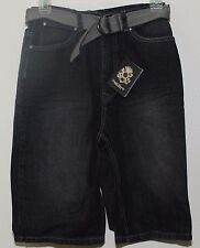 English Laundry Shorts w Belt Boy's Size 5 Black Denim  NWT $48