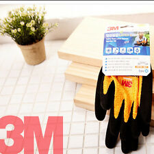 3M Premium Safety Work Gloves Comfort Grip Protective Nitrile Coated [ Kids ]-Y
