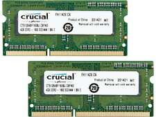 Crucial 8GB (2 x 4GB) 204-Pin DDR3 SO-DIMM DDR3L 1600 (PC3L 12800) Laptop M