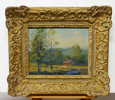 LAURENTIAN or EASTERN TOWNSHIPS-QUEBEC-small GEM IN OIL on BOARD