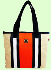 TOMMY HILFIGER TH  Canvas Center striped Shopper Tote Bag Msrp $58.00