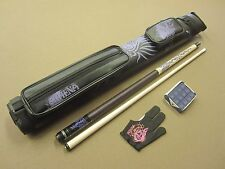 Athena Pool Cue Package Athena 2x2 Case & Glove, Purple Chalk Package FREE Ship