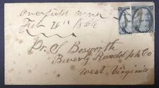 momen: US Stamps #73d Used Vertical Bisect on Cover to Beverly