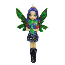 JASMINE BECKET GRIFFITH Fairy Ornament NEPENTHE Fairie GREEN VOODOO SKULL Figure
